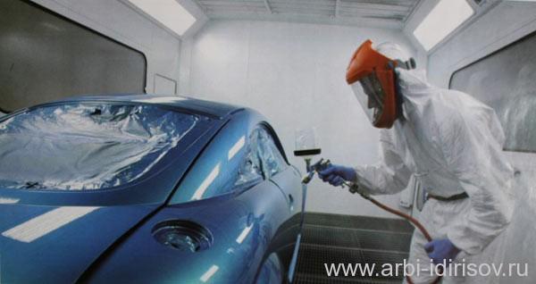 Покраска автомобиля водоразбавляемой краской
