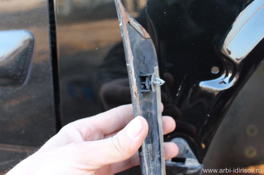 снятие накладки переднего крыла ваз 2114