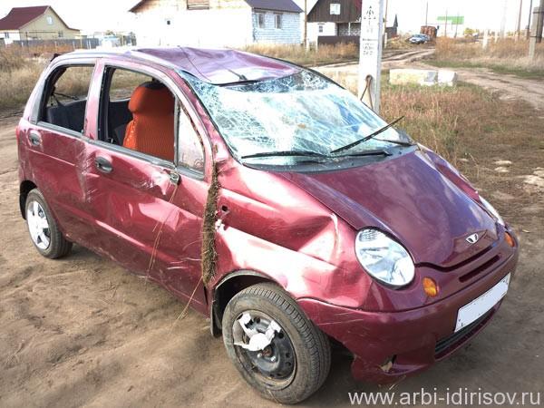 Будь осторожен за рулем: аварийный деу матиз - кузовной ремонт
