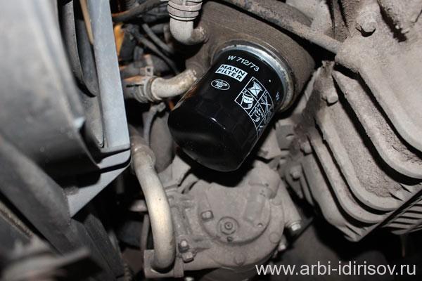 Замена (установка) масляного фильтра на форд фокус 2
