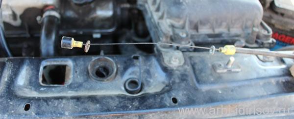 Замена троса замка капота на ВАЗ 2114, Лада 2115